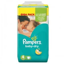 Baby Dry - Pack 44 Couches de Pampers taille 4 sur Couches Zone