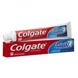 Cavity Protection - Tube Dentifrice Colgate sur Couches Zone