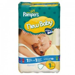 New Baby Dry - Maxi Pack de 172 Couches de Pampers taille 1