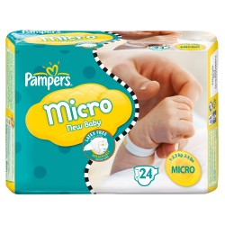 New Baby Micro - Pack de 24 Couches Pampers taille 0 sur Couches Zone