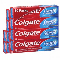 Cavity Protection - Maxi Pack 10 Dentifrices Colgate sur Couches Zone