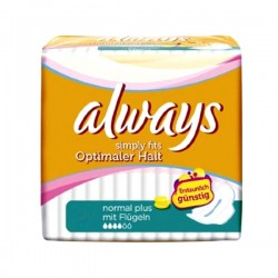 Simply Fits - Pack 36 Serviettes hygiéniques d'Always taille normal plus sur Couches Zone