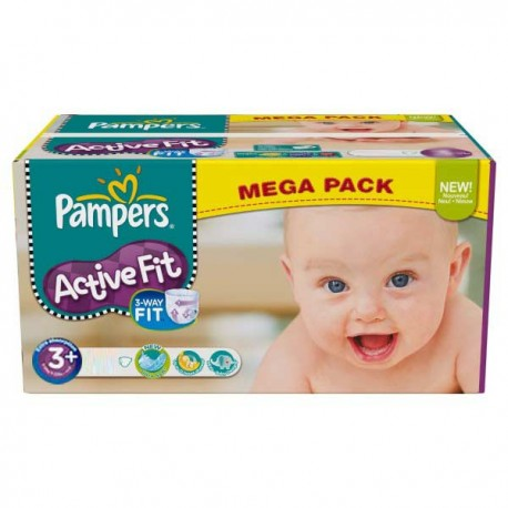 Active Fit - Maxi Pack de 280 Couches Pampers taille 3+ sur Couches Zone