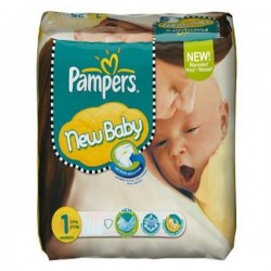 New Baby Dry - Pack économique 301 Couches Pampers taille 1