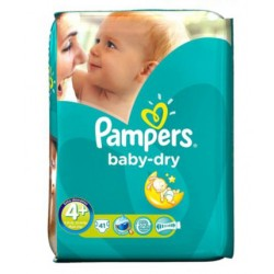 Baby Dry - Pack de 41 Couches Pampers taille 4+ sur Couches Zone