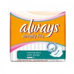 Simply Fits - Maxi Pack de 144 Serviettes hygiéniques Always taille normal plus sur Couches Zone