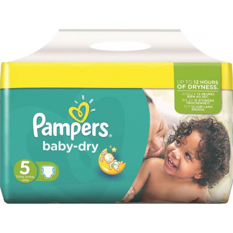 180 Couches Pampers Baby Dry Taille 5 Pas Cher Sur Couches Zone
