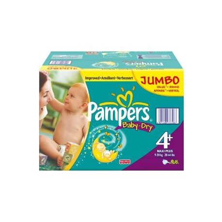 210 Couches Pampers Baby Dry Taille 4 A Bas Prix Sur Couches Zone