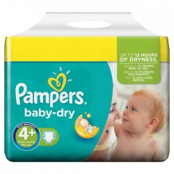 Baby Dry - Pack 56 Couches Pampers taille 4+