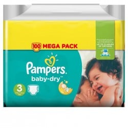 Baby Dry - Pack 68 Couches de Pampers taille 3 sur Couches Zone