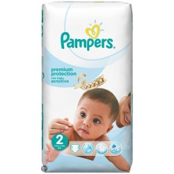 New Baby Sensitive - Pack 60 Couches Pampers taille 2