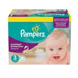 Active Fit - Pack de 123 Couches de Pampers taille 3