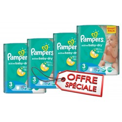 Active Baby Dry - Maxi Giga Pack Jumeaux 660 Couches de Pampers taille 3