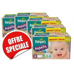 Active Fit - Giga Pack 615 Couches Pampers taille 3