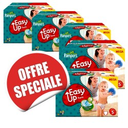 Easy Up - Maxi Giga Pack Jumeaux de 731 Couches Pampers taille 5 sur Couches Zone