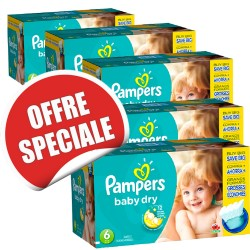 Baby Dry - Maxi Giga Pack Jumeaux de 627 Couches Pampers taille 6 sur Couches Zone