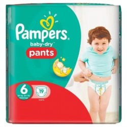 Baby Dry Pants - Pack 19 Couches de Pampers taille 6