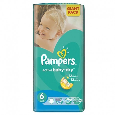 Active Baby Dry - Pack de 42 Couches de Pampers taille 6 sur Couches Zone