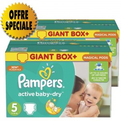 Active Baby Dry - Pack économique 522 Couches Pampers taille 5 sur Couches Zone