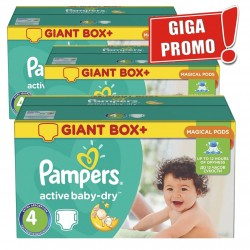 Active Baby Dry - Mega Pack 696 Couches Pampers taille 4