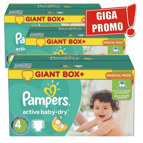 Active Baby Dry - Mega Pack 696 Couches Pampers taille 4 sur Couches Zone