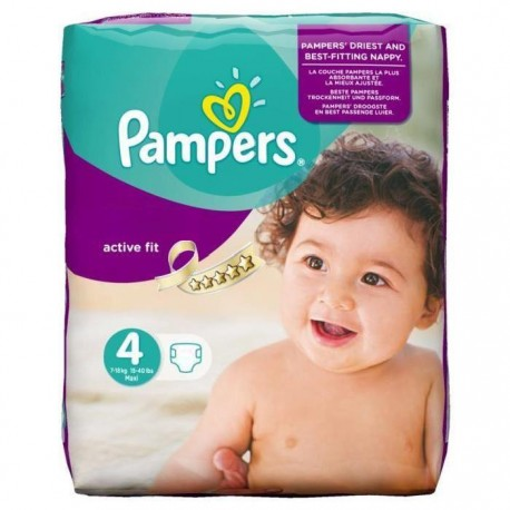Couches Pampers Active Fit Taille 4 A Bas Prix Sur Couches Zone