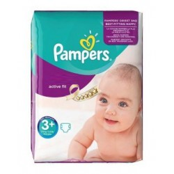 Active Fit - Pack de 70 Couches de Pampers taille 3+