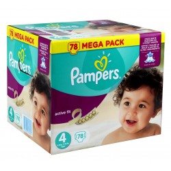 Active Fit - Pack de 54 Couches Pampers taille 4 sur Couches Zone
