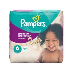 Active Fit -  Pack 31 Couches Pampers taille 6 sur Couches Zone