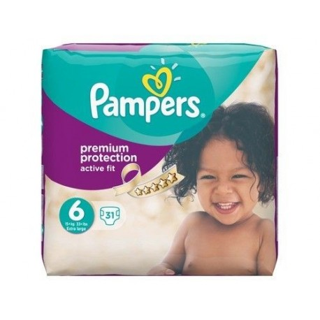 31 Couches Pampers Active Fit Taille 6 Moins Cher Sur Couches Zone