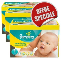 New Baby Dry - Maxi Mega pack 516 Couches Pampers taille 1