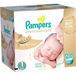Premium Care - Giga pack 164 Couches Pampers taille 1