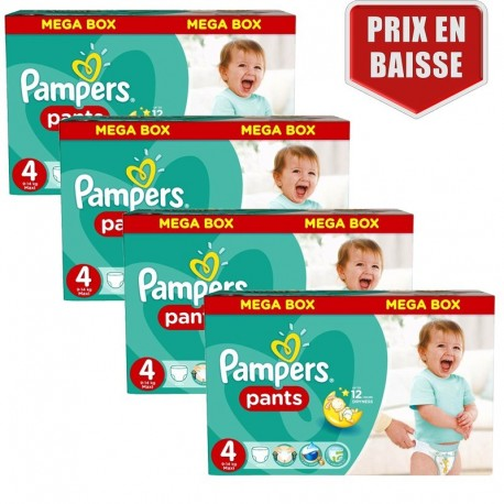 Maxi Pack 470 Couches Pampers Baby Dry Pants taille 4 sur Couches Zone