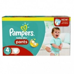Pack 94 Couches Pampers Baby Dry Pants taille 4