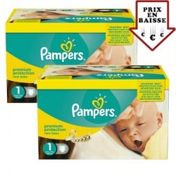 Maxi Giga pack 345 Couches Pampers New Baby taille 1 sur Couches Zone