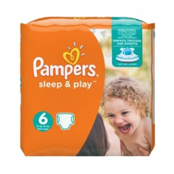 Pack 58 Couches Pampers Sleep & Play taille 6 sur Couches Zone