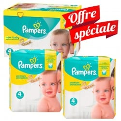 Pack Jumeaux 672 Couches Pampers Premium Protection - New Baby taille 4 sur Couches Zone