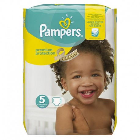 Pack 68 Couches Pampers Premium Protection - New Baby taille 5 sur Couches Zone