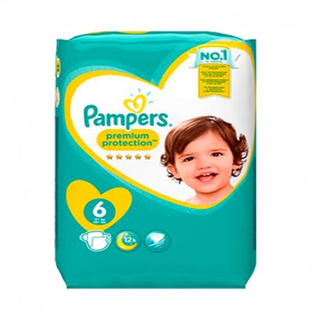 Pack 31 Couches Pampers Premium Protection - New Baby taille 6 sur Couches Zone
