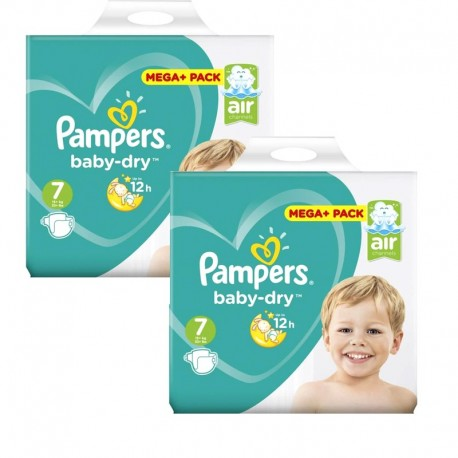 Giga Pack 112 Couches Pampers Baby Dry taille 7 sur Couches Zone