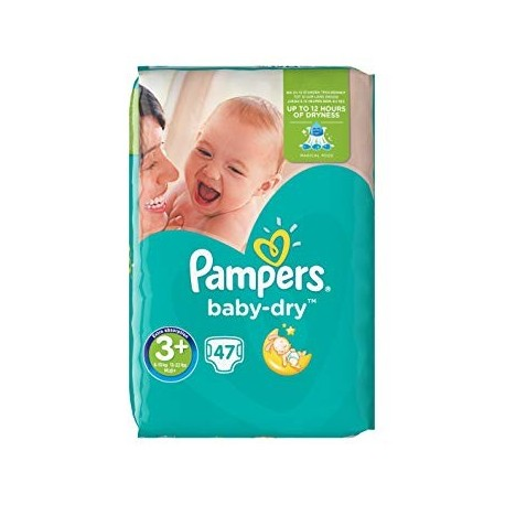 Pack 47 Couches Pampers Baby Dry taille 3+ sur Couches Zone