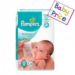 Pack 38 Couches Pampers ProCare Premium protection taille 0