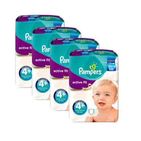 Mega Pack 248 Couches Pampers Active Fit taille 4+ sur Couches Zone