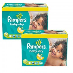 Giga Pack 175 Couches Pampers Baby Dry sur Couches Zone