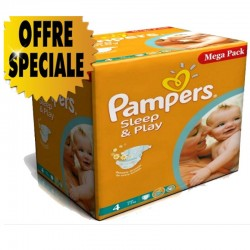 Maxi Pack 432 Couches Pampers Sleep & Play taille 4
