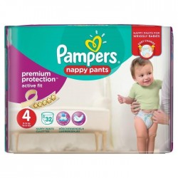Pack 32 couches Pampers Active Fit Pants