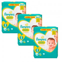 Maxi Pack 204 Couches Pampers New Baby - Premium Protection taille 2