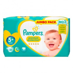 Pack 45 Couches Pampers New Baby taille 5+ sur Couches Zone