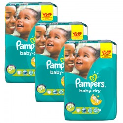 Maxi Giga Pack 168 Couches Pampers Baby Dry taille 5+ sur Couches Zone