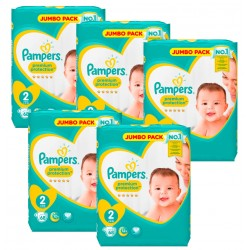 Maxi Giga Pack 340 Couches Pampers New Baby - Premium Protection taille 2